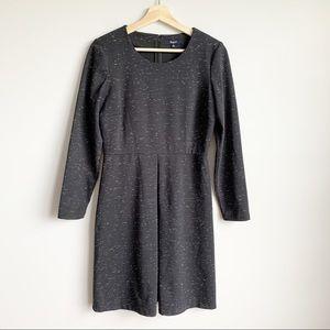 Madewell Heathered Long Sleeve Pleated Dress 6